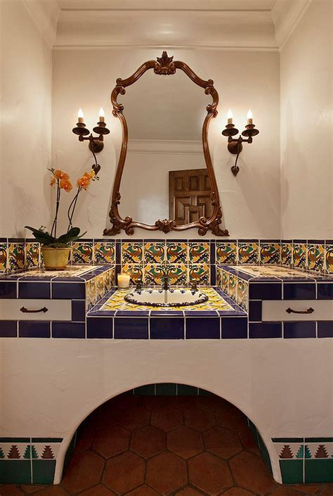 themed bathroom wall decor how to decorate your home with vibrant mexican flair