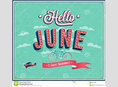 Hello June Typographic Design Stock Images Image 35512894