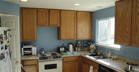 blue kitchen with oak cabinets mr homeowner tear this wall kitchen blue 7942