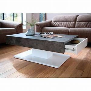 Tisch Eiche Weiß : couchtisch lania beistelltisch tisch in wei matt lack beton grau oder eiche ebay ~ Indierocktalk.com Haus und Dekorationen