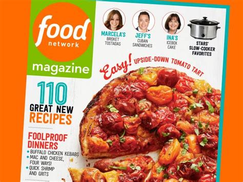 food network magazine september  recipe index food
