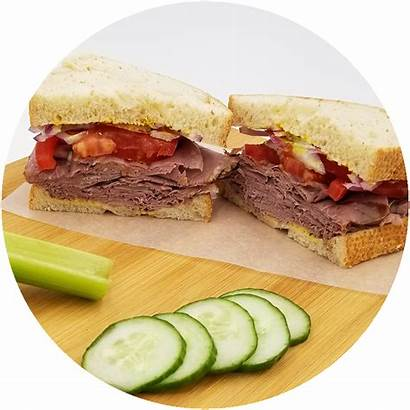 Sandwich Deli Beef Roast Round Harvest Bakery