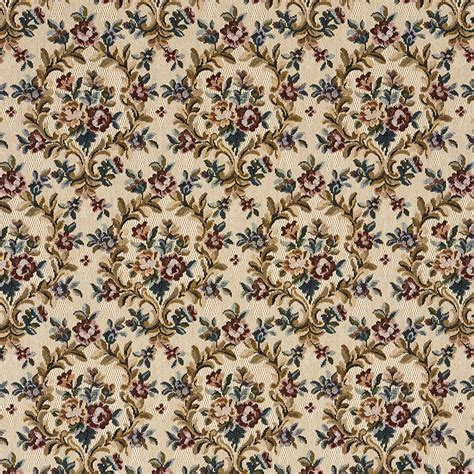 Upholstery Fabrics by Yellow Beige And Pink Floral Heirloom Vintage Tapestry
