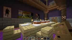 minecraft le manoir de la locky inc 2 la salle a With salle a manger minecraft