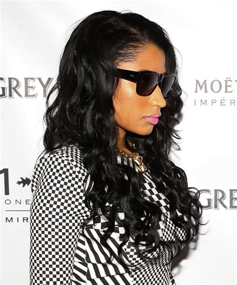 Nicki Minaj Long Wavy Casual Hairstyle