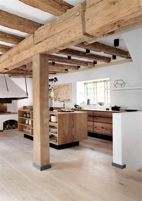 plan de cuisine bois la cuisine équipée avec îlot central 66 idées en photos