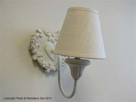 deco de charme en ligne applique coeur blanc et fleurs sphere inter d 233 co de charme 007700 retrodeco boutique de