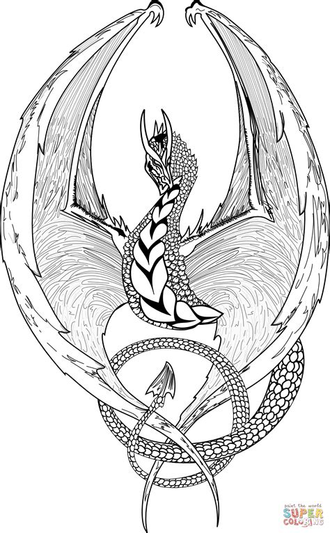 Fantasy Dragon coloring page Free Printable Coloring Pages