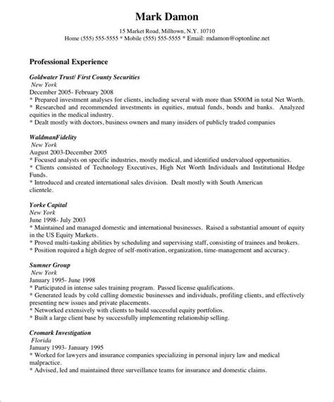 Sale Representative Resume Sle by Sales Representative Resume Exles Free Sales