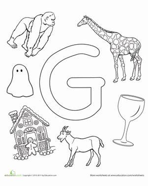 g is for worksheet education 679 | the alphabet preschool