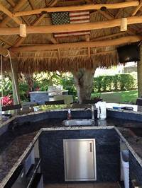 interesting tropical outdoor kitchen ideas Tiki Hut, Outdoor Kitchen and Landscaping - Tropical - miami - by Bamboo Landscaping and ...