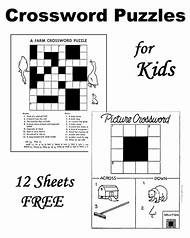 Printable Easy Crossword Puzzles Kids