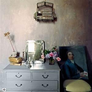 Peinture Effet Patiné : patiner murs chambre avec effet chaux vieillie de boiron ~ Melissatoandfro.com Idées de Décoration
