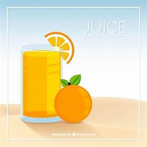 Flat orange juice background Vector | Free Download