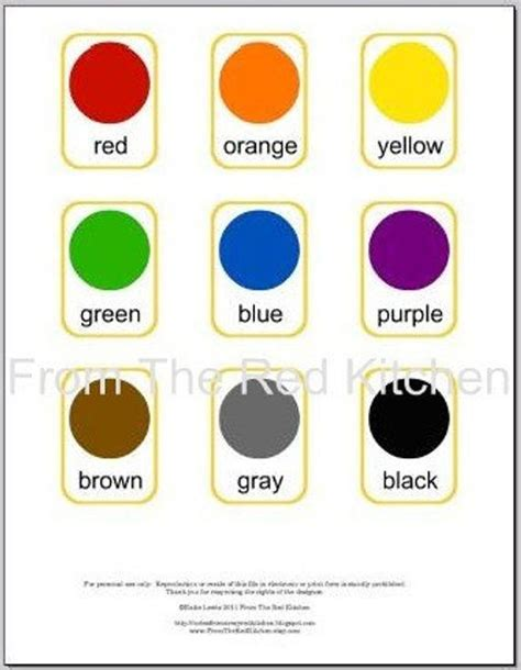 basic colors colors flashcards pdf 11 basic colors including white and