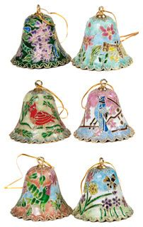 piece cloisonne bell ornament set traditional