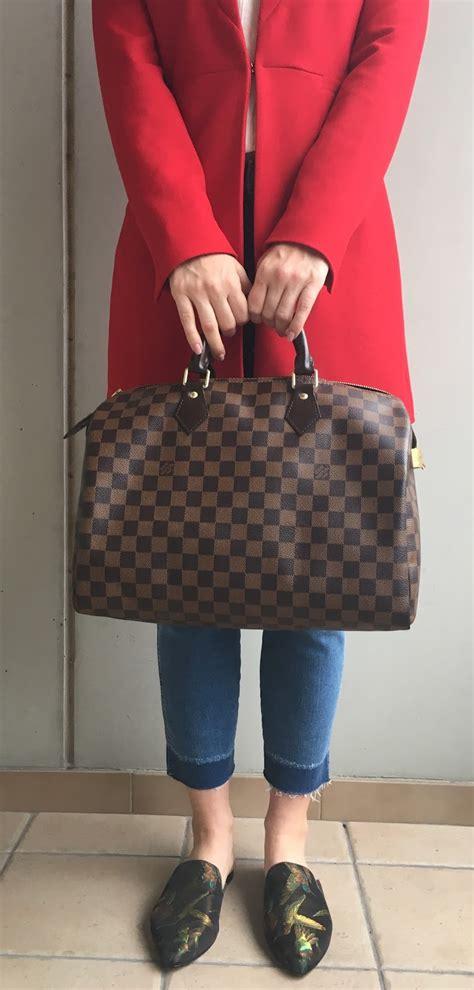 handbag review louis vuitton speedy   brunette nomad