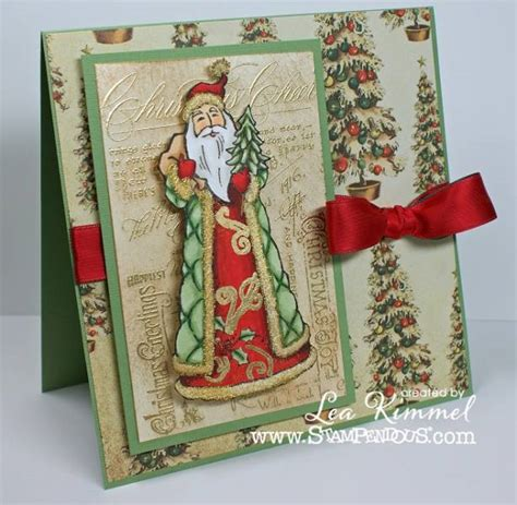 stampendous christmas santa card michaels cards forest positive ink stamps crafts craft background splitcoaststampers using th stores stamped