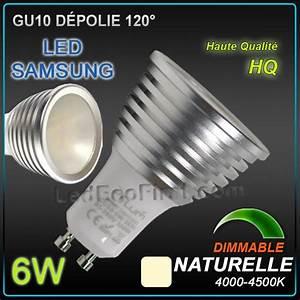 Ampoule Led Dimmable Gu10 : ampoule led gu10 dimmable 6w depolie led samsung 4500k ~ Edinachiropracticcenter.com Idées de Décoration