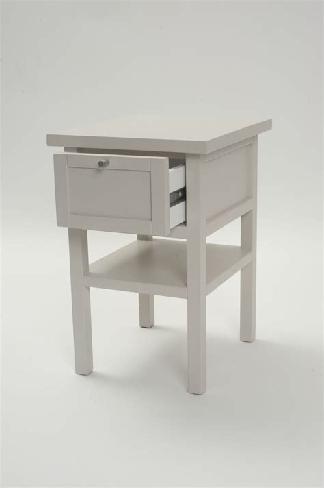 Long Island Small Bedside Table  Chalk Or Shale  Pr Home