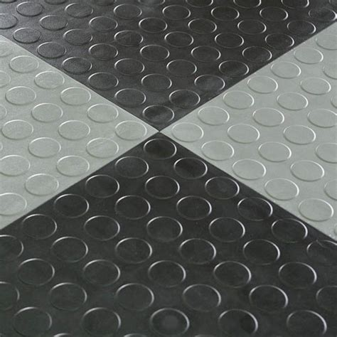 Warehouse Floor Tile Hiddenlock Coin Floor Tile Gray