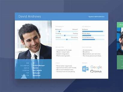 Persona Templates User Ux Personas Research Psd