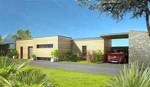 maisons charles bois maisons bois en loire atlantique With maison bois toit plat