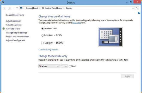 set correct font size for display how to pc advisor
