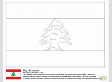 Ausmalbild Flagge des Libanon Ausmalbilder kostenlos