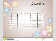 Kids Timetable For School Stock Photography Image 33079772