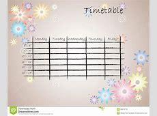 Kids timetable for school stock vector Illustration of