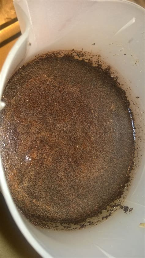 It results from upper gastrointestinal bleeding that has coffee grounds emesis: Coffee Bean Chronicles