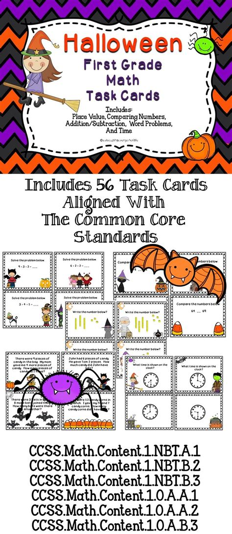 halloween math task cards  grade  great