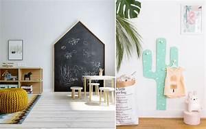 Deco Chambre Bois : du bois dans une chambre d 39 enfant inspiration d coration tableau noir en forme de cabane et ~ Melissatoandfro.com Idées de Décoration