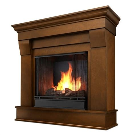 real flame chateau ventless gel fireplace  espresso