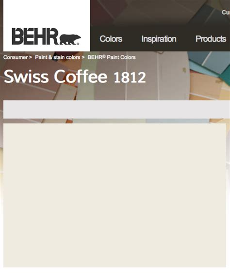 behr swiss coffee nursery house color palette behr idea paint and house colors