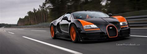 Bugatti Veyron Vitesse Black Orange Facebook Cover