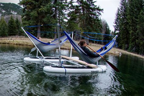 Boat Tower Hammock this hammock boat lets you relax in up to 4 hammocks while