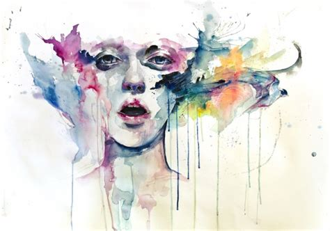 watercolor paintings  agnes cecile