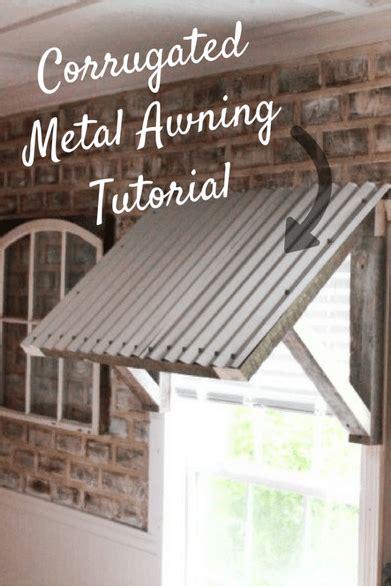corrugated metal awning diy  paws farmhouse
