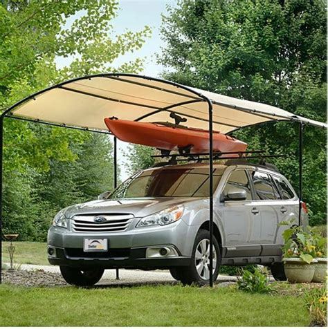 metal carports carport canopy kits garage steel frame car    boat tent cover ebay
