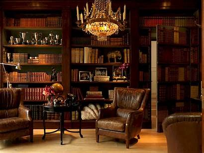 Study Library Office Interiors Colonial British Dutch