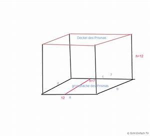 Grundfläche Berechnen Prisma : volumen volumen und oberfl che eines prismas berechnen mathelounge ~ Themetempest.com Abrechnung