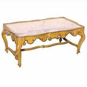 baker rococo style coffee table with marble top at 1stdibs With marble look coffee table