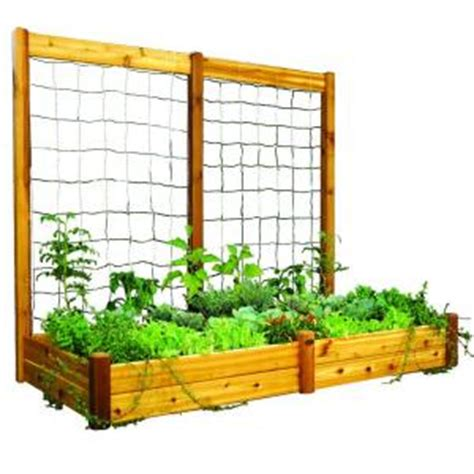 gronomics 48 in x 95 in x 13 in raised garden bed with