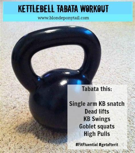 kettlebell tabata wod crossfit workout kettle bell blondeponytail kettlebells routine