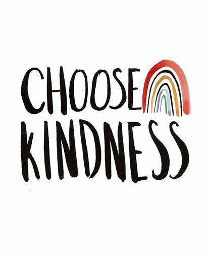 Kindness Choose Rainbow Sign Printable Reply Slat