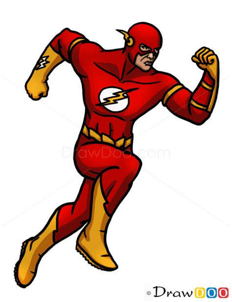 draw flashsuperheroes step  step drawing