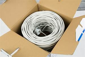 Vivo White 500ft Bulk Cat5e Lan Ethernet Cable    Wire Utp