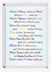 disney love quotes inspirational quote sign wall decor